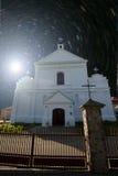 Iglesia bajo las estrellas Imagenes de archivo