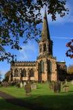 Iglesia Bakewell Derbyshire Fotografía de archivo