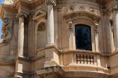 Iglesia barroca en el noto, Sicilia Foto de archivo libre de regalías