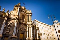 Iglesia barroca en Palermo, Italia fotografía de archivo libre de regalías