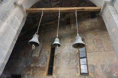 Iglesia Belces de la cueva tres de Vardzia imagenes de archivo