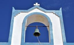 Iglesia Belces - Santorini en Grecia Fotos de archivo libres de regalías
