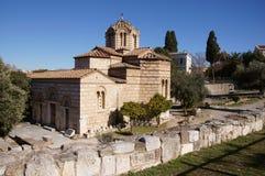 Iglesia bizantina griega Imagenes de archivo