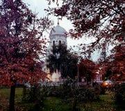 Iglesia blanca de Bucarest Imagen de archivo libre de regalías