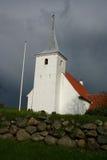 iglesia blanca, Dinamarca Foto de archivo libre de regalías