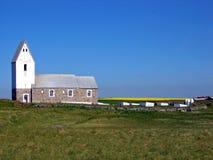 Iglesia blanca en Dinamarca, Europa Fotografía de archivo libre de regalías