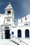 Iglesia blanca en la isla de Nisyros fotos de archivo libres de regalías