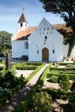 Iglesia blanca a partir de 1550 imagen de archivo libre de regalías