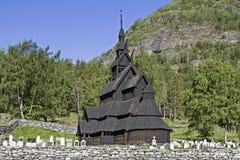 Iglesia Borgund del bastón foto de archivo