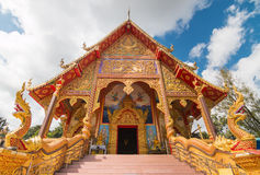 Iglesia budista con septentrional de Tailandia Art Design Foto de archivo