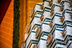 Iglesia budista construida de la porcelana Imágenes de archivo libres de regalías