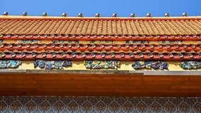 Iglesia budista construida de la porcelana Fotografía de archivo
