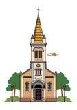 Iglesia católica ilustración del vector
