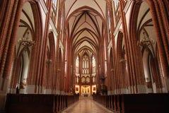 Iglesia católica adentro Foto de archivo