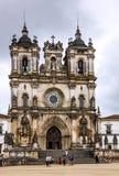 Iglesia católica Alcobaca Roman Monastery medieval de Portugal Imagenes de archivo
