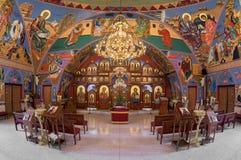 Iglesia católica bizantina del anuncio imagenes de archivo