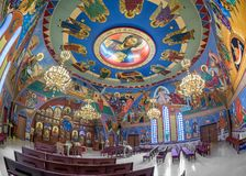 Iglesia católica bizantina del anuncio imagen de archivo