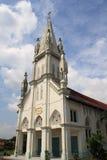 Iglesia católica china de la pequeña ciudad Foto de archivo libre de regalías