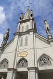 Iglesia católica china de la pequeña ciudad Fotos de archivo libres de regalías