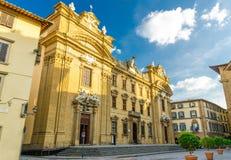 Iglesia católica de Complesso di San Firenze Chiesa San Filippo Neri en el cuadrado de Piazza di San Firenze en el centro históri foto de archivo libre de regalías