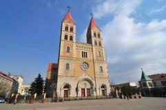 Iglesia católica de Qingdao Imagen de archivo libre de regalías