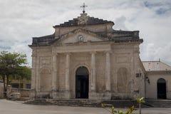 Iglesia católica de Santo-Jean-Baptiste en la ciudad Le Moule, Guadalupe Fotos de archivo
