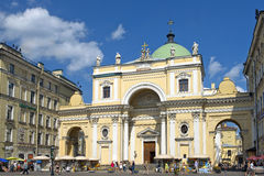 Iglesia católica de St Catherine, St Petersburg, Rusia Imagen de archivo libre de regalías