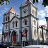 Iglesia católica en Aibonito céntrico Imagen de archivo libre de regalías
