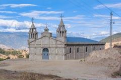 Iglesia católica en las montañas del distrito de la quiche en Guatemala Foto de archivo libre de regalías