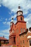 Iglesia católica en península superior imagen de archivo libre de regalías