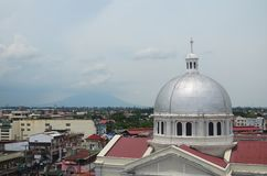 Iglesia católica en San Fernando, Filipinas foto de archivo
