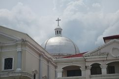 Iglesia católica en San Fernando, Filipinas fotos de archivo