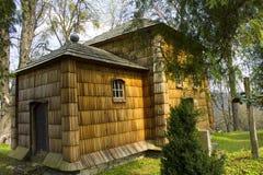Iglesia católica griega de madera Imagen de archivo
