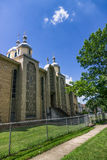 Iglesia católica griega ucraniana contra el cielo azul Rochester, los E.E.U.U. Imagen de archivo