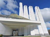 Iglesia católica moderna blanca, Lituania Fotografía de archivo libre de regalías