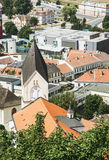 Iglesia católica romana del nacimiento de la Virgen María, Trencin, Slov Imagenes de archivo