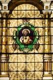 Iglesia católica Windows manchado Fotos de archivo