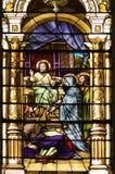 Iglesia católica Windows manchado Imagen de archivo libre de regalías