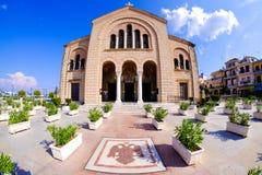 Iglesia central del parc de la ciudad de Zakynthos Ciudad de Zante Imagenes de archivo