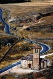Iglesia cerca de Segovia, España Imagen de archivo libre de regalías