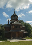 Iglesia, cielo, Ucrania, Zarvanytsia Foto de archivo libre de regalías