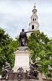 Iglesia clemente Londres de los daneses del St del monumento de Gladston Foto de archivo