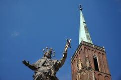 Iglesia colegial de la cruz y del St Bartholomew santos, 'aw de WrocÅ imagen de archivo libre de regalías