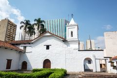 Iglesia colonial de Merced del La imagen de archivo