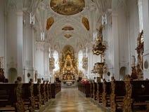Iglesia con el altar del neumann de Balthasar Imagenes de archivo