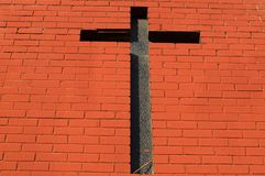Iglesia con la cruz del ladrillo, Livingstone, Zambia fotografía de archivo libre de regalías