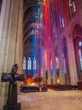 Iglesia con las cintas de la luz Imagen de archivo libre de regalías