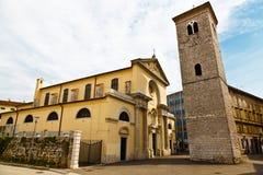 Iglesia con los pilares en Rijeka Imagen de archivo