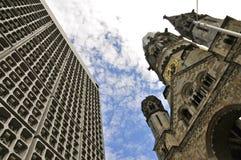Iglesia conmemorativa de Kaiser Wilhelm, Berlín Foto de archivo libre de regalías