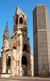 Iglesia conmemorativa de Kaiser Wilhelm en Berlín fotografía de archivo